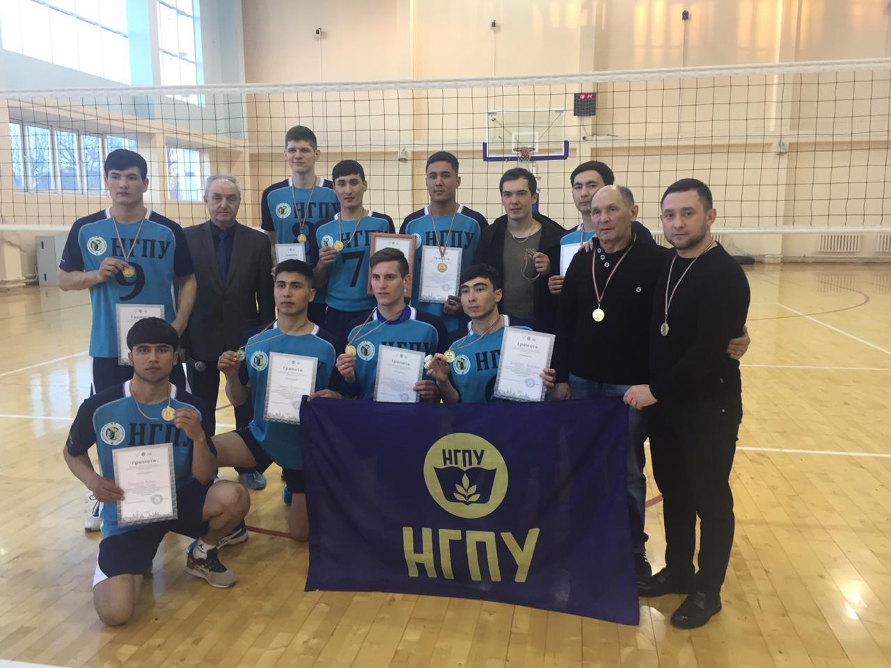 Сборная НГПУ стала победителем Первенства студенческой волейбольной лиги РТ среди мужских команд